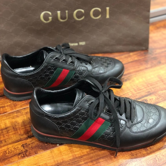 792eb7ace Gucci Other - Authentic Men s Gucci Leather Black Sneakers